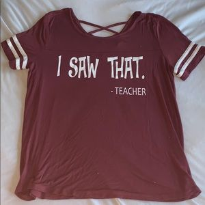 Teacher top comfy